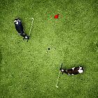 Animal Art - Golfing Cows by Michael Murray