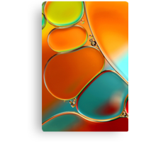 Oil & Water Abstract in Orange Canvas Print