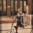 A Penny Farthing & Argyle Socks by Kristy Evans