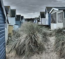 Hut stuff!  Round the back of the Huts.... by rathergoodphoto