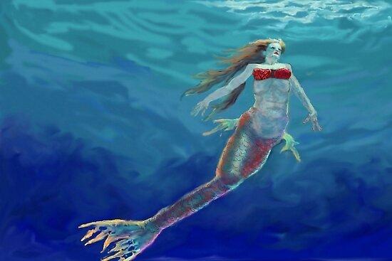 Rubby Mermaid by khsculpture