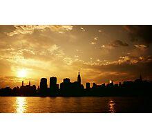 Sunset Over The New York City Skyline Photographic Print