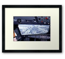 Mt. Rainier from an Airbus A320 Cockpit Framed Print