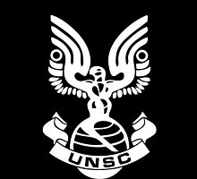 UNSC Logo (iPhone case) [Black] by bradyqk