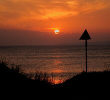 Sunset Over Western Port bay by Graeme Lawry