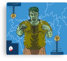 Frankenstein's monster gets the juice ! ( Frank's zapper ) Canvas Print