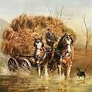 The Hay Wagon by Trudi&#x27;s Images