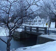 Snowy Bridge by PaulineHoward