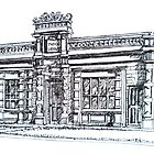 Buninyong, Victoria. The Old Library and Mechanic's Institute. c1861.  by Elizabeth Moore Golding