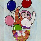 Babushka with ballons iPhone by Kelly Gatchell Hartley