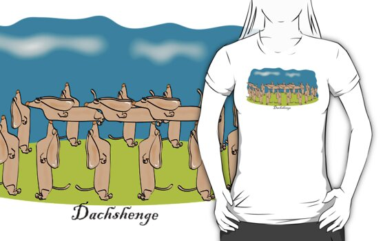 Icons of Earth: Dachshenge (tee) by Diana-Lee Saville