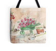 Working in the garden... Tote Bag