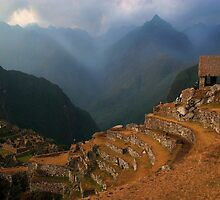 Machu Piccu in the Andes Mountains by Haggiswonderdog