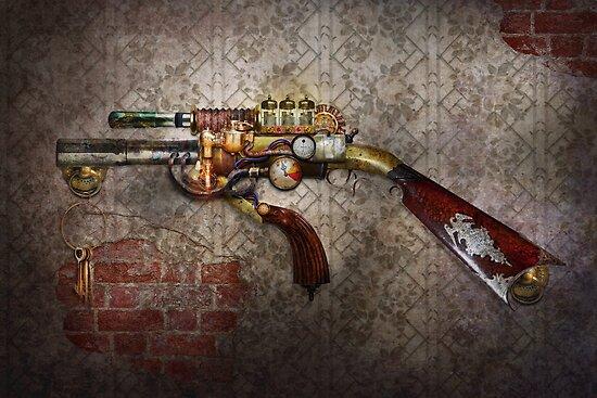 Steampunk - Gun - The sidearm by Mike  Savad