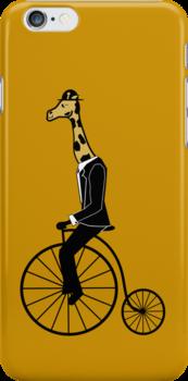 Penny-farthing Giraffe by wilynsical