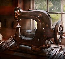 Sewing Machine - Leather - Saddle Sewer by Mike  Savad