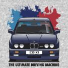 BMW E30 M3 (M Splash) - Macau Blue - Black Text by Sharknose
