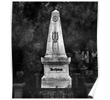 Ludwig van Beethoven Grave. Poster