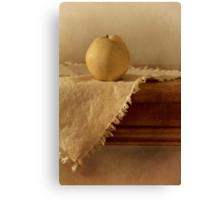 apple pear on a table Canvas Print