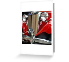 1952 MG TD Grille  ( best viewed large!)  Greeting Card