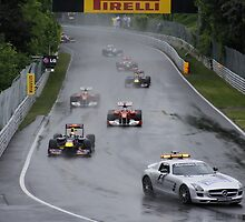 Formula 1 in Montreal 2011 Race Restart by gtexpert
