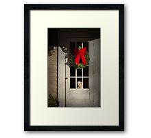 Winter - Christmas - Clinton, NJ - Christmas puppy  Framed Print