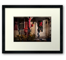 Winter - Christmas - Clinton, NJ - How much is that doggy in the window Framed Print