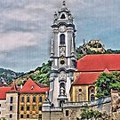 Pfarrkirche  - Parish Church, Durnstein, Austria by Lee d'Entremont