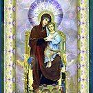 Madonna of the Kaleidoscope Card by Helen K. Passey