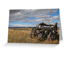 Old Buggy Greeting Card