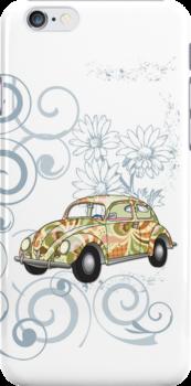 Slug Bug iPhone case by olivehue