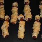 Halloween horrid sausage mummies by patjila