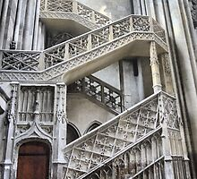 Cathedrale Notre Dame de Rouen (6) The Staircase by Larry Lingard/Davis