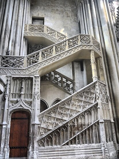Cathedrale Notre Dame de Rouen (6) The Staircase by cullodenmist