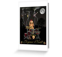 French Christmas Rock Greeting Card