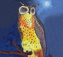 Felix Navidad Christmas Owl Eagle Owl by Eric Kempson