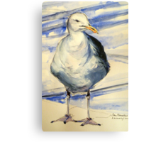 San Francisco seagull: pen and wash Canvas Print