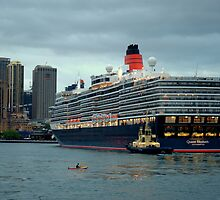 Her Majesty Docking in Sydney Harbour by Richard Shakenovsky