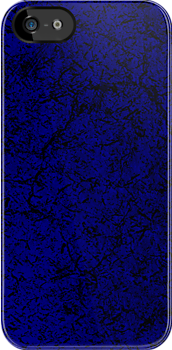 BLUE TEXTURED iPHONE CASE by BYRON