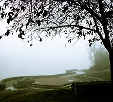 Foggy Waterfront 05 by mdkgraphics