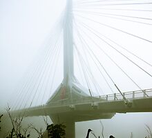 Foggy Waterfront 10 by mdkgraphics