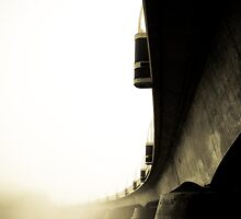 Foggy Waterfront 11 by mdkgraphics
