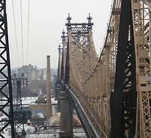 Queensboro Bridge, As Seen from Roosevelt Island Tram, New York by lenspiro