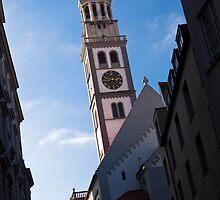 Perlachturm of Augsburg by Stanley Tjhie