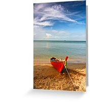 Serenity - Little Red Boat Greeting Card