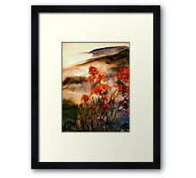 On Wu Mountain.... Framed Print