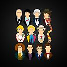 The Eleven Doctors iPhone Case  by Tom Trager