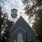 """Holy Water"" - church and water tower by John Hartung"