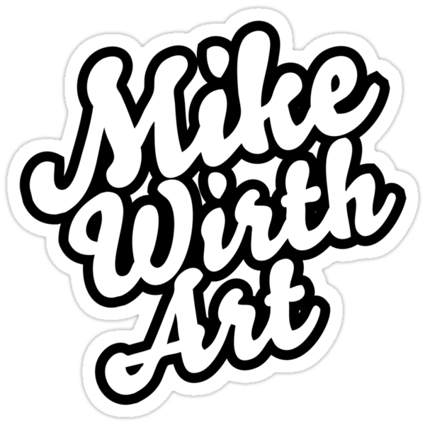 Mike Wirth Art Brand Sticker by mikewirth