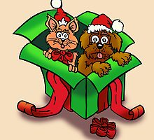 Pets are NOT a present by NHR CARTOONS .